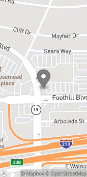 Map of 3699 E Foothill Blvd in Pasadena