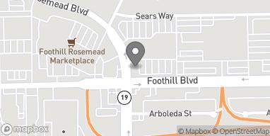 Mapa de 3699 E Foothill Blvd en Pasadena