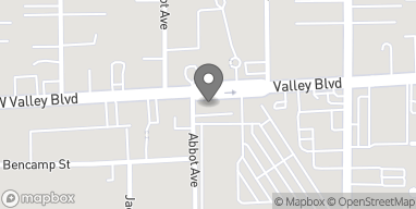 Map of 166 W Valley Blvd in San Gabriel