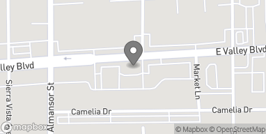 Mapa de 810 East Valley Blvd en Alhambra