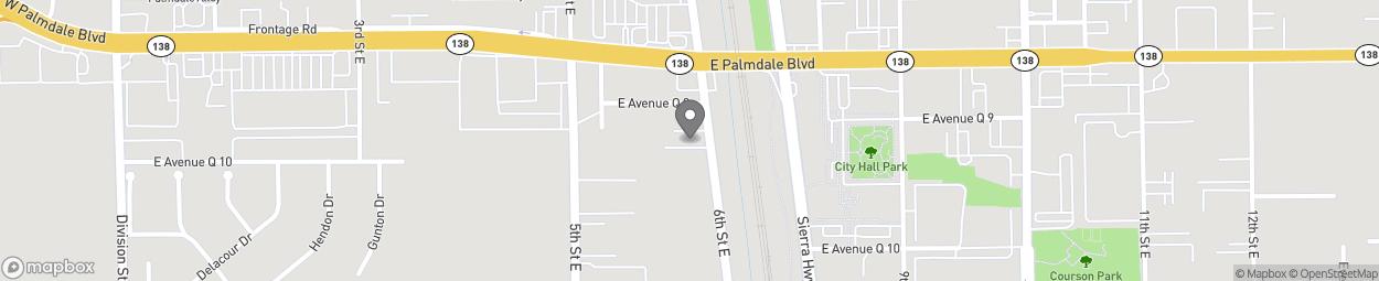 Carte de 38333 6th Street East à Palmdale