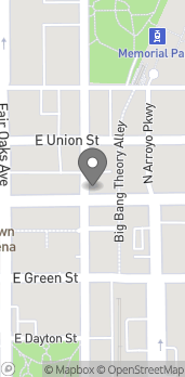 Map of 83 E Colorado Blvd in Pasadena
