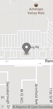 Mapa de 1233 Rancho Vista Blvd en Palmdale