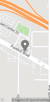 Mapa de 895 Foothill Blvd en La Canada