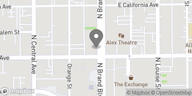 Mapa de 207 N Brand en Glendale