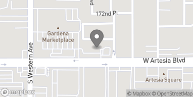 Map of 1691 W Artesia Blvd in Gardena