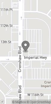 Map of 11350 Crenshaw Blvd in Inglewood