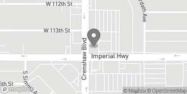 Mapa de 11350 Crenshaw Blvd en Inglewood