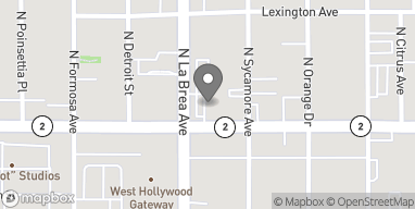 Mapa de 1112 La Brea Ave en West Hollywood