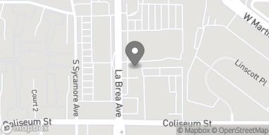 Map of 3700 South La Brea Ave in Los Angeles