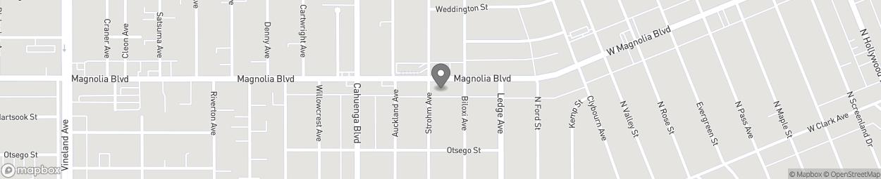 Carte de 10452 Magnolia Boulevard à North Hollywood