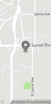 Mapa de 8000 W Sunset Blvd en Los Angeles