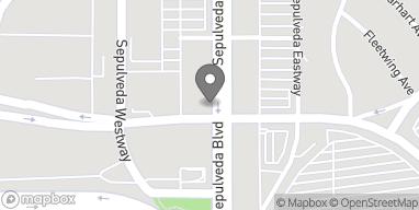 Mapa de 8949 S Sepulveda Blvd en Los Angeles