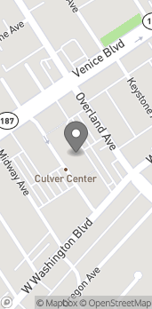 Map of 3851 Overland Ave in Culver City