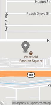 Mapa de 14006 Riverside Drive en Sherman Oaks