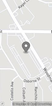 Map of 9055 Woodman Ave in Arleta