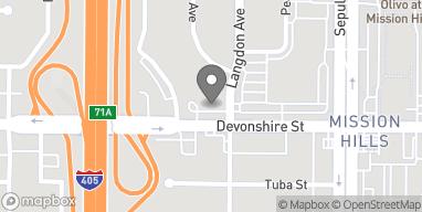 Mapa de 15509 Devonshire St en Mission Hills