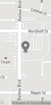 Mapa de 9010 Balboa Blvd en Northridge