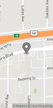 Mapa de 19930 Ventura Blvd en Woodland Hills