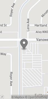 Map of 22950 Vanowen St in West Hills