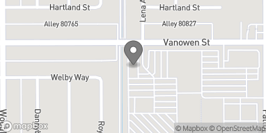 Map of 22950 Vanowen St in West Hills