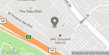 Map of 168 W Hillcrest Drive in Thousand Oaks