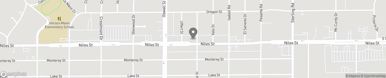 Carte de 3140 Niles Street à Bakersfield