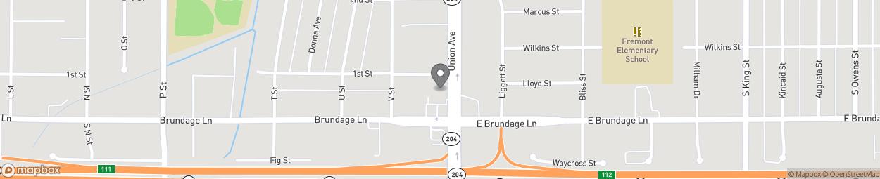Carte de 25 Union Avenue à Bakersfield