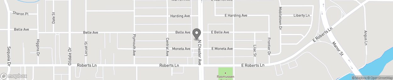Map of 413 N Chester Ave in Bakersfield