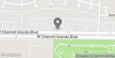 Map of 585 W Chanel Islands Blvd in Port Hueneme