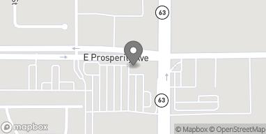 Mapa de 2075 E Prosperity Ave en Tulare