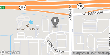 Map of 5404 W Cypress Ave in Visalia
