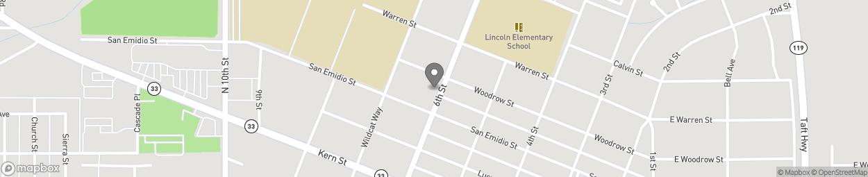 Carte de 617 6th Street à Taft