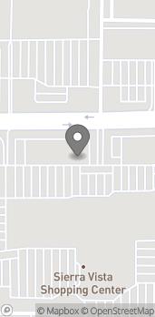 Map of 1180 Shaw Avenue in Clovis
