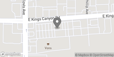 Mapa de 5648 E Kings Canyon Rd en Fresno