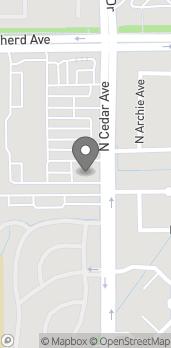 Mapa de 8817 N Cedar Ave en Fresno