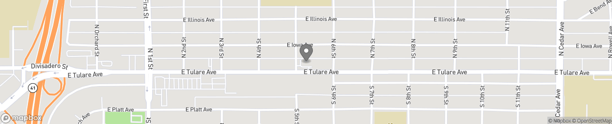 Carte de 3515 East Tulare Street à Fresno