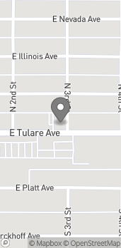 Map of 3263 E Tulare Ave in Fresno