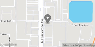 Map of 5180 N Blackstone Ave in Fresno