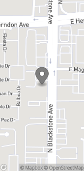 Map of 6685 N Blackstone Ave in Fresno