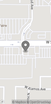 Map of 3195 W Shaw Ave A in Fresno