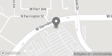 Mapa de 6733 N. Riverside Drive en Fresno