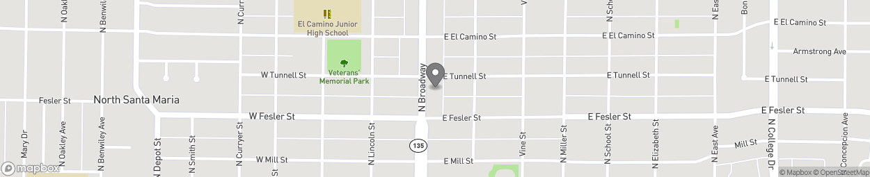 Carte de 416 N Broadway à Santa Maria