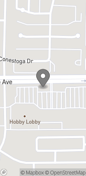 Map of 1340 W Olive Ave in Merced