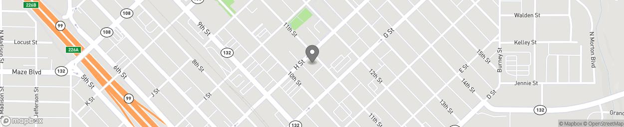 Carte de 1020 H Street à Modesto