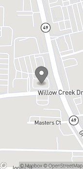 Map of 11835 Willow Creek Dr in Auburn