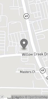 Mapa de 11835 Willow Creek Dr en Auburn
