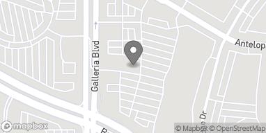 Mapa de 1136 Galleria Blvd en Roseville