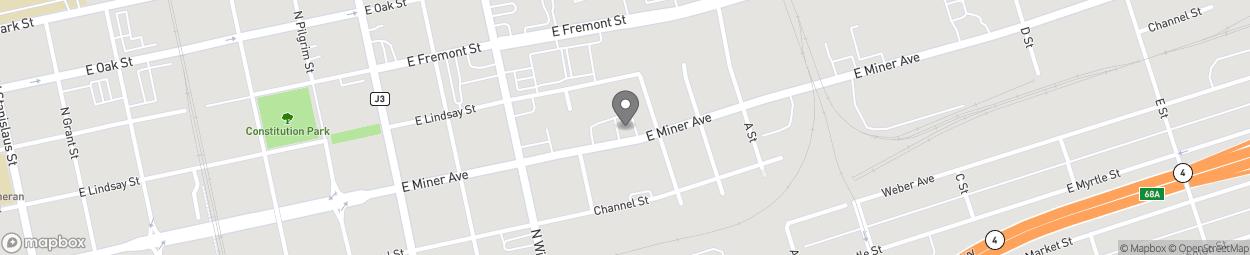 Carte de 1645 Miner Avenue à Stockton