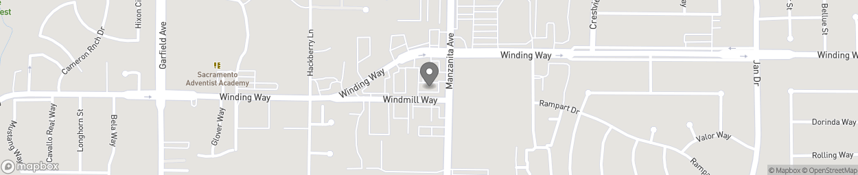 Carte de 5845 Windmill Ave à Carmichael
